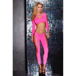 Set aus Top und Leggings in Pink