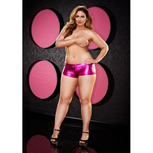 Twerk It Short -Plus Size - Rosa