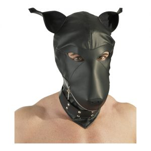 Lederimitat Dog Mask