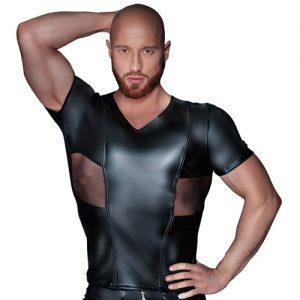 Shirt in Wetlook-Optik von Noir Handmade