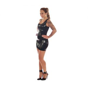 Mini-Kleid aus Latex