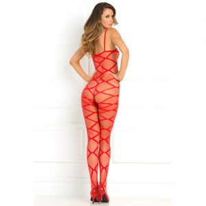 Strapped Up Catsuit - Rot